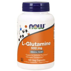 Now Foods L-Glutamina 500 mg 120 veg kapsułek