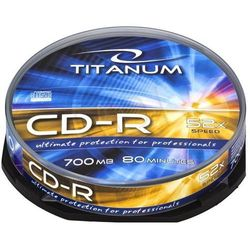 Płyty TITANUM CD-R 700MB/80min 52X -Cake Box 10szt.