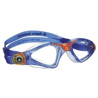 Okularki pływackie, Aquasphere okulary Kayenne junior jasne szkła, niebieski-pomarańczowy