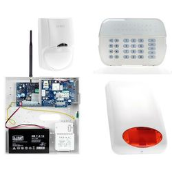 Zestaw alarmowy DSC 1x Czujnik ruchu Manipulator LED Powiadomienie, Sterowanie, Konfiguracja GSM
