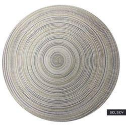 SELSEY Podkładka pod talerz Karrins okrągła średnica 38 cm szara