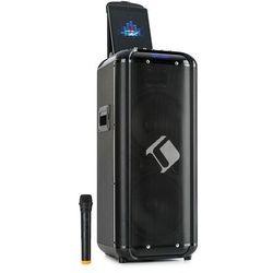 """Auna Moving 2100, zestaw nagłośnieniowy, głośnik niskotonowy 2x10"""", 100/300 W, mikrofon VHF, USB, SD, BT, AUX, przenośny"""