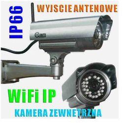 Kamera Zewnętrzna IP/WIFI (zasięg cały świat!!), Dzienno-Nocna + Możliwość Zapisu itd.