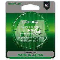Filtry do obiektywów, MARUMI DHG ND64 Filtr fotograficzny szary 58mm