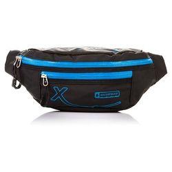 Sportowa saszetka / nerka na pas wodoodporna (niebieski) - czarny   niebieski