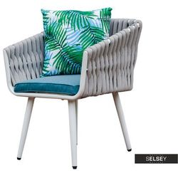SELSEY Krzesło ogrodowe Shakir szare