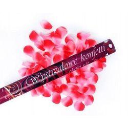 Tuba strzelająca, różowe sztuczne płatki róż, 60cm, 1 szt.