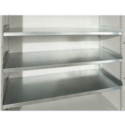 Półka do szafy do dużych obciążeń JUMBO, bez ścianki działowej, ocynkowana. Dług