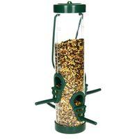 Środki na szkodniki, Karmnik dla ptaków na zimę transparentny. Tuba na ziarno dla ptaków.