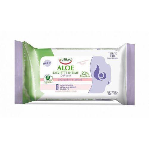 Tampony, Equilibra Aloesowe chusteczki do higieny intymnej