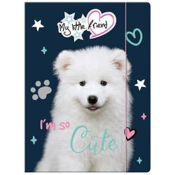 TECZKA Z GUMKĄ A4 MY LITTLE FRIEND Pies, Kot