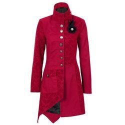 Krótki płaszcz bonprix czerwony