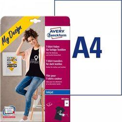 Folie do wprasowywania na kolorowe tkaniny A4 8ark. folii transferowej + 8ark. papieru silikonowego Avery Zweckform
