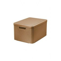Koszyk z pokrywką brązowy-Curver 9440MY Oferta ważna tylko do 2031-06-17