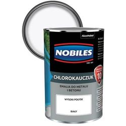 Emalia chlorokauczukowa Nobiles do metalu i betonu biała 0,9 l