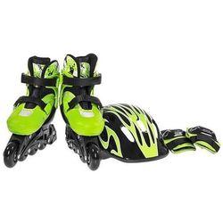 Zestaw łyżworolki i ochraniacze NILS EXTREME NJ082 set Zielony (rozmiar 32-35) + DARMOWY TRANSPORT!