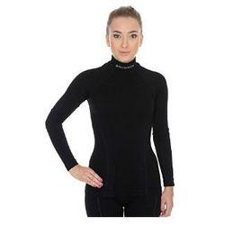 Bluzka damska z długim rękawem Brubeck Extreme Wool - czarny