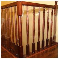 Zabezpieczenie do balustrady, folia PVC, 250x90cm - 250cm x 90cm