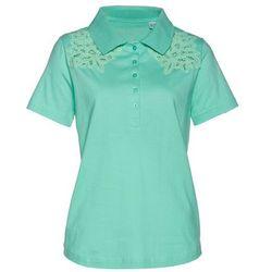 Shirt polo bonprix mentolowy niebieski