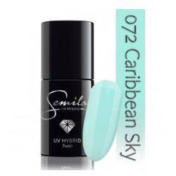 Semilac lakier hybrydowy 072 Caribbean Sky, transparentny, 7ml