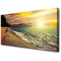 Obrazy, Obraz na Płótnie Słońce Plaża Morze Krajobraz