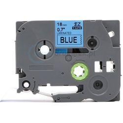 Taśma do brother tze-541 niebieskie tło/czarny nadruk 18mm x 8m zamien