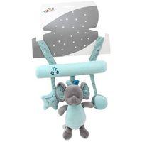 Zabawki do wózka, Zawieszka z dźwiękiem New Baby Słonik miętowy 22 cm