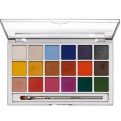 Kryolan SHIMMERING VISION PALETTE 18 COLORS Paleta 18 kolorów kremowych cieni do powiek (1049)