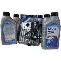 Oleje przekładniowe, Filtr oraz olej Mobil ATF-320 skrzyni biegów Dodge Durango 1998-2003