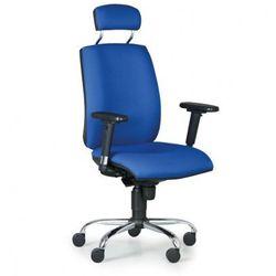 Krzesło biurowe Flexible, niebieski