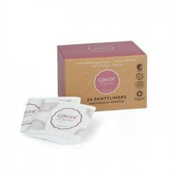 GINGER ORGANIC Wkładki higieniczne certyfikowane 100% organic bawełna organiczna bez chloru 24 szt