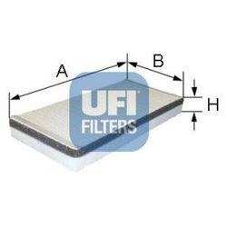 Filtr, wentylacja przestrzeni pasażerskiej UFI 53.059.00