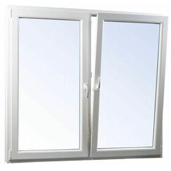 Okno PCV rozwierne + rozwierno-uchylne trzyszybowe 1465 x 1135 mm symetryczne białe