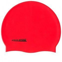 Czepek pływacki silikonowy Aqua Speed Mega czerwony