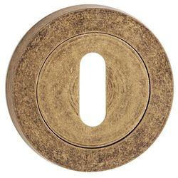 Szyld drzwiowy Metalbud dolny okrągły na klucz patyna antyczna