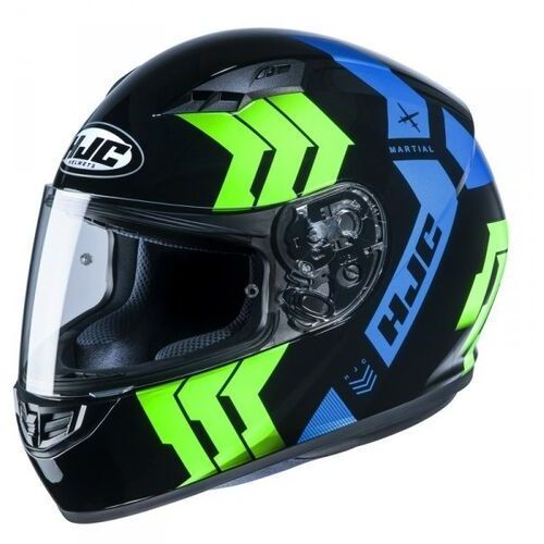 Kaski motocyklowe, Hjc kask integralny cs-15 martial black/green/blue