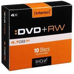 Intenso DVD+RW 4x SC 4,7GB Intenso 10 sztuk (4211632) Darmowy odbiór w 21 miastach!