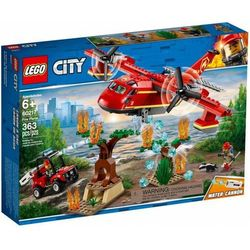 Klocki City Samolot strażacki 363el