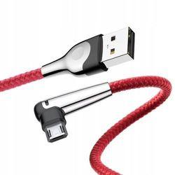 Baseus MVP Mobile | Kątowy kabel USB - Micro-USB dwustronny Quick Charge 2.4A | czerwony - Czerwony \ 100cm