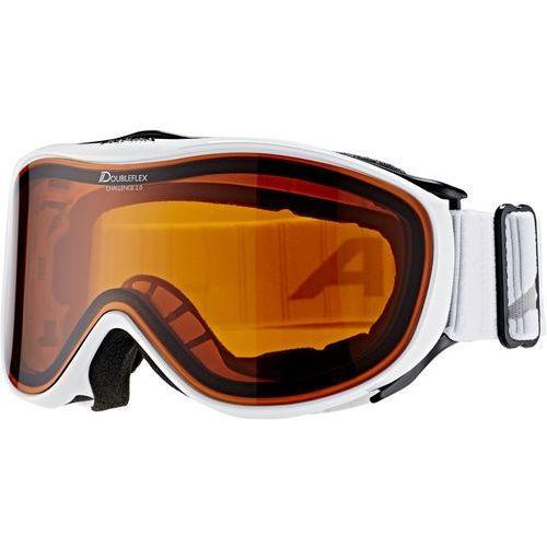 Kaski i gogle, Alpina Challenge 2.0 Doubleflex S2 Gogle biały 2018 Gogle narciarskie