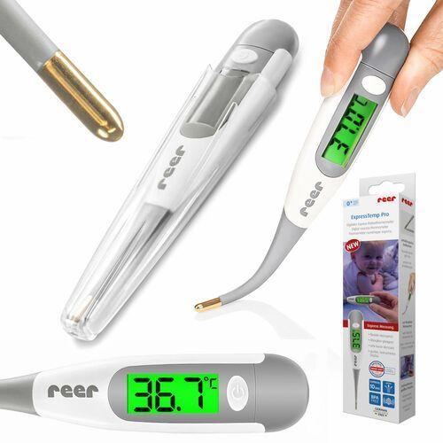 Termometry, Termometr medyczny końcówka z złota LCD XL 10sek REER - ExpressTemp Pro