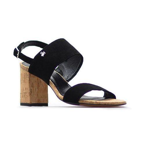 Sandały damskie, Sandały CheBello 2062 Czarne zamsz