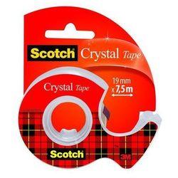 SCOTCH Taśma klejąca CRYSTAL na podajniku, 19mm x 7,5m