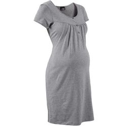 Koszula nocna ciążowa i do karmienia bonprix jasnoszary melanż