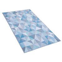 Dywany, Dywan niebiesko-szary 80 x 150 cm krótkowłosy KARTEPE