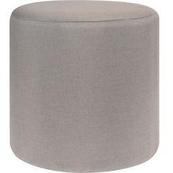 Pufa bawełniana, siedzisko, podnóżek, beżowy - 35 x 35 cm