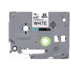 Taśma do brother flexi tze-fx231 biała/czarny nadruk 12mm x 8m zamienn