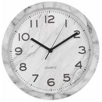 Zegary, Zegar ścienny CARRARA śr. 30 cm biały