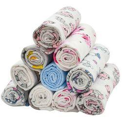 New Baby Pieluchy bawełniane z nadrukiem Standard, 60 x 80 cm, zestaw 10 szt.