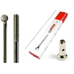 Szprychy CNSPOKE STD14 2.0-2.0-2.0 stal nierdzewna 180mm srebrne + nyple 144szt.